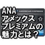 ANAアメックスプレミアムは最強!?旅行好き必見の至高のカード!!