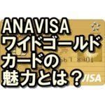 ANAVISAワイドゴールドカードはお得?審査難易度や還元率も!